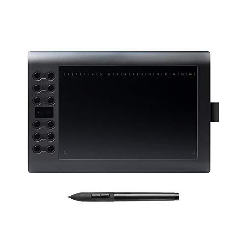 GAYBJ Profesional 10 Pulgadas Tableta gráfica para Dibujar con USB Art Digital Tablet 2048 Niveles Pluma