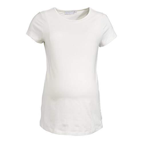 2HEARTS T-Shirt de Grossesse et d'allaitement T-Shirt de Grossesse T-Shirt de Grossesse, écru