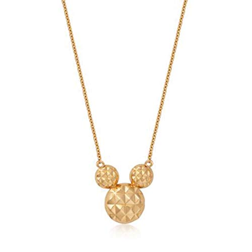 Goebel Couture Kingdom Micky Maus Halskette Diamond Cut, Hals Kette, Anhänger, Schmuck, 9K Gold, 12100721