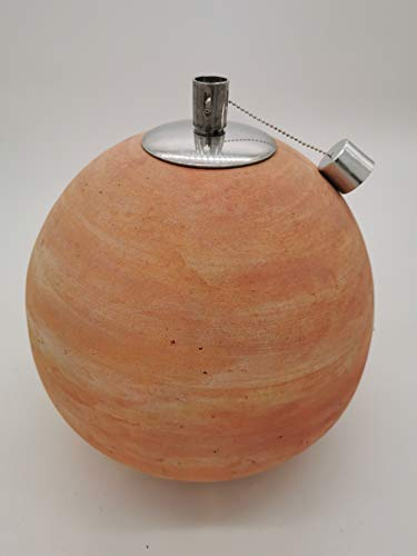 Dekokugel Gartenkugel Kugel Terrakotta frostfest und witterungsbeständig (Öllampe 30cm)