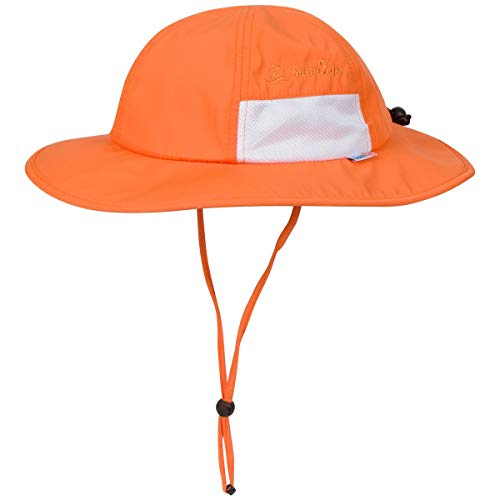 SwimZip Kid's Sun Hat - Wide Brim UPF 50+ Sun Protection Hat UPF 50+ Orange 2-8