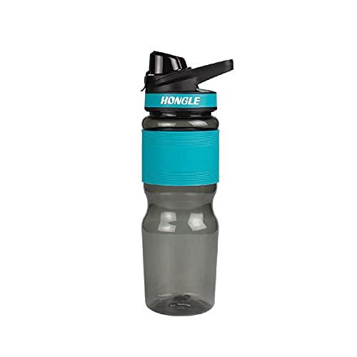 SDGSDG Borraccia Sportiva, Senza BPA,Sports kettle silica rubber slip plastic water cup car-Light blue_700mlAdatto per viaggi, ciclismo, fitness