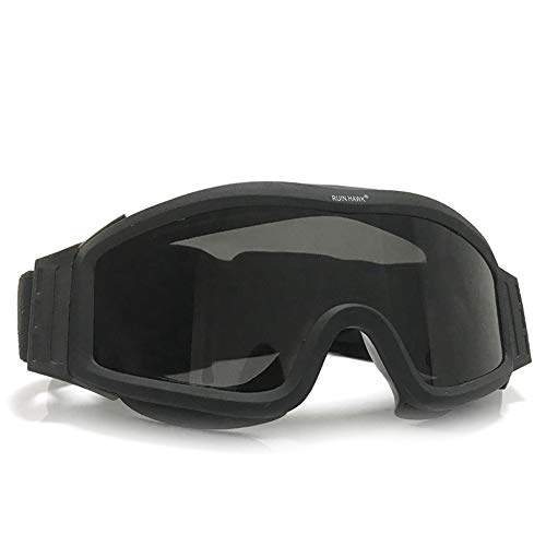 Fouos Military Airsoft Goggles, Tactical Safety Glasses, 3 Interchangeable Lenses, Anti-Fog (Black)