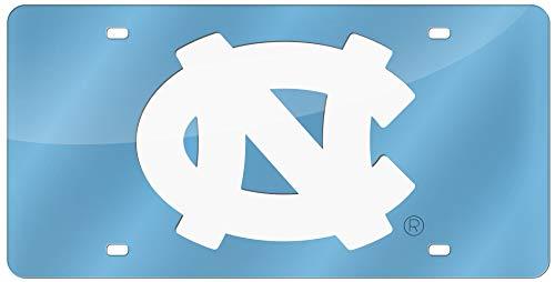 University of North Carolina UNC Tar Heels Thick Acrylic Laser Cut Blue License Plate