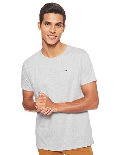 Tommy Jeans Herren Original Jersey Kurzarm T-Shirt Grau (Lt Grey Htr 038) Large