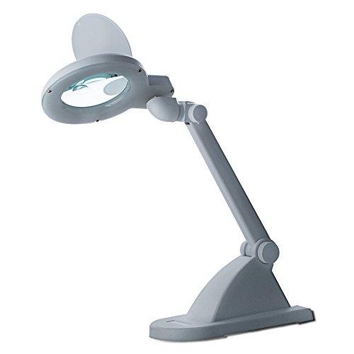 edi-tronic LED-Tischlupenleuchte 15 LEDs 3 Dioptrien + 8 Diop Lupenleuchte Arbeitsleuchte Lupenlampe Lupe Kaltlicht