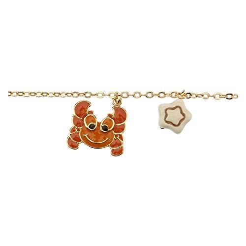 THUN ® Armband Sternzeichen vergoldet mit Keramikanhänger