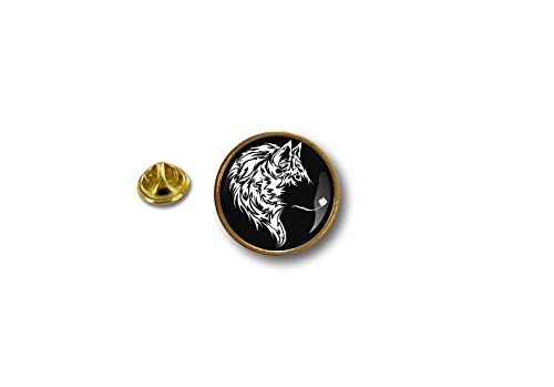 Spilla Pin pin's Spille spilletta Giacca Badge Biker Moto Lupo Wolf No Club r2