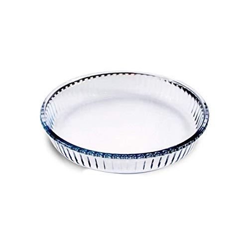 Takestop® - Bandeja redonda de cristal con 26 mm de diámetro, para tarta, rectangular, para dulces y pizzas