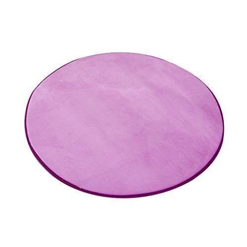 JCOCO Chaude Simple Circulaire Forme Tapis Plusieurs Tailles Non-Antidérapant Etanche Anti-Fading Salon Chambre Tapis Ordinateur Chaise Coussin (Couleur : Pink, Taille : 120 * 120cm)