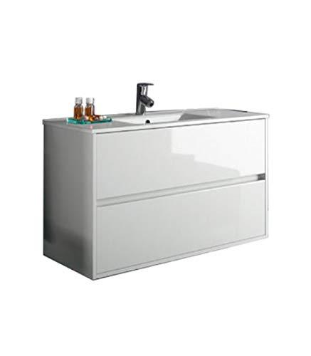 Salgar Noja 900 – Chariot Noja 900/blanc + lavabo en Porcelaine