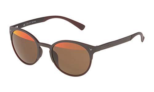 Police SPL162V507E8H Gafas de sol, Marrón, 50 Unisex