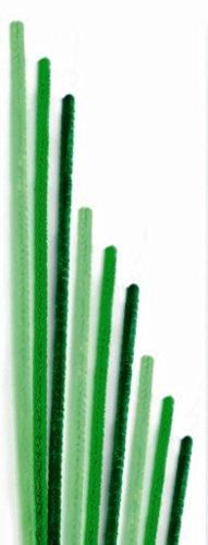 GLOREX chenilles cure-pipes Mix, vert, 30 x 8 x 1 cm
