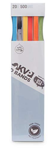 """KVP Pet 500 Count ID Bands, 20"""", Mixed"""
