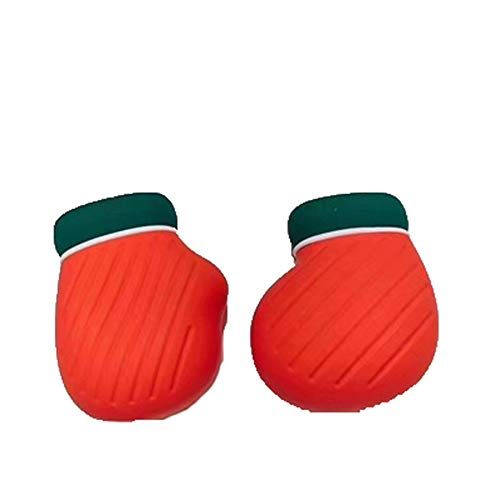 YUHUANG Kreative Silikon Wärmflasche, Wasserkocher, Handwärmer, Mini-Weihnachtshandschuh Socken-EIN Paar Füße und Hände