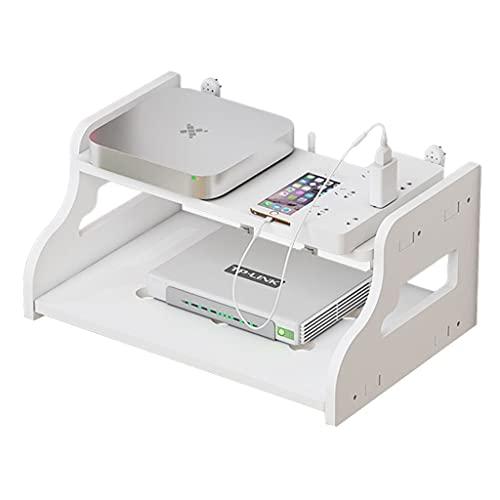 Storage Boxes Rack per Set-Top Box TV Rack divisorio Mobile Senza punzone Scatola di immagazzinaggio Router WiFi scaffale per Parete Soggiorno mensola per proiettore partizione in Linea
