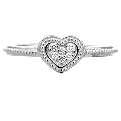 [ココカル]cococaru ハート ダイヤ リング ダイヤモンド リング 指輪 レディース シルバー リング sv925 ギフト 贈り物 記念日 プレゼント 日本製(1)