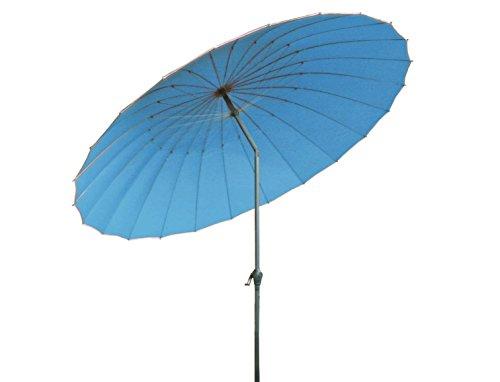 Profiline Kurbelschirm China 270 hellblau, mit Kurbel, UV-Schutz 30 Plus und Knicker, 1003689