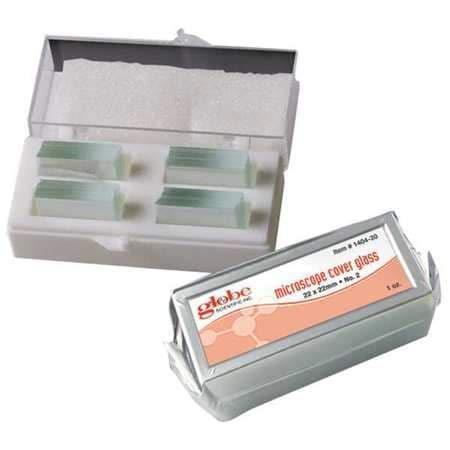 GLOBE SCIENTIFIC 1404-10, Microscope Cover Glass, PK10