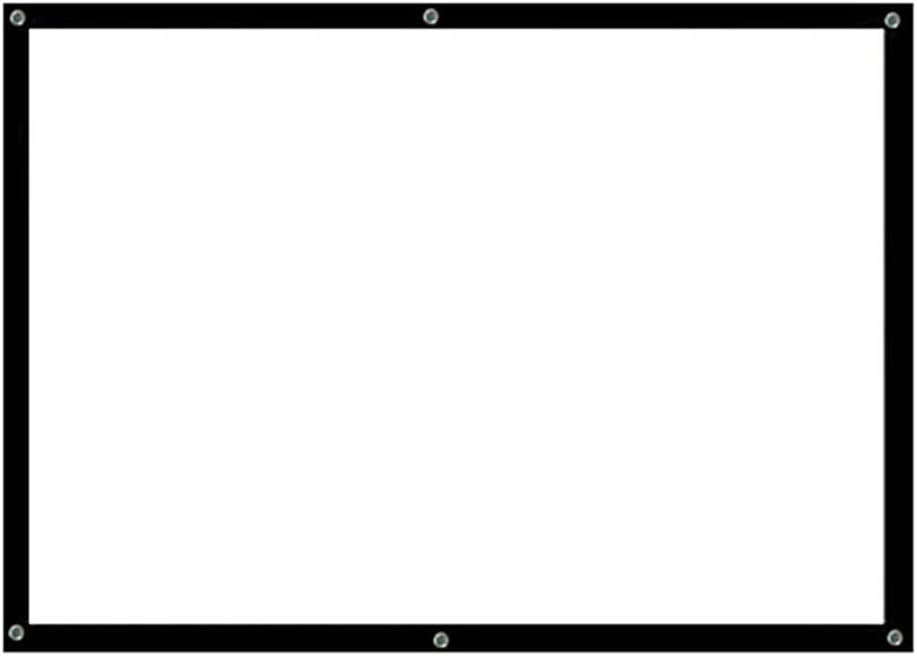 DSFEOIGY 70'' Portable Projector Screen HD 16:9 White Dacron 70