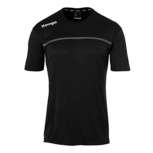 Kempa Kinder Emotion 2.0 T-Shirt, schwarz/Anthra, 164