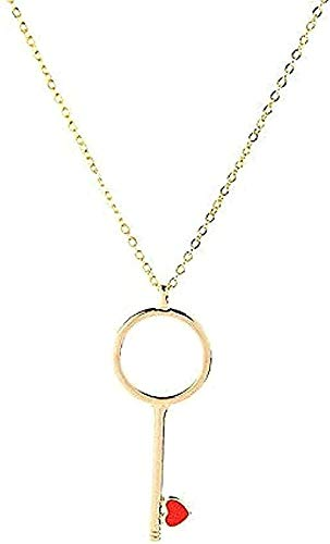 LBBYLFFF Necklace Galvanized Key Pendant Necklace for Women Simple Style