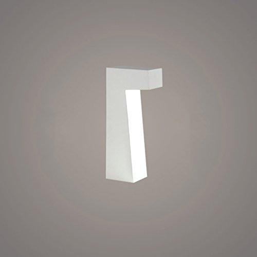 LOFAMI Nordic Creative LED Eye Protection Study Lampe de lecture, mode moderne White Bedroom Bedside Sleep Table Lamp, Simple Art Restaurant Décoration Lampe de table