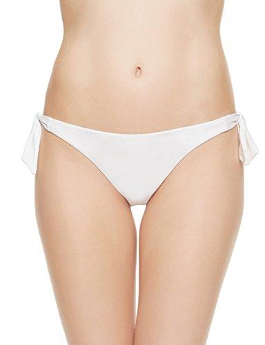 EONAR Damen Niedriger Bund Bikinihosen Seitlich zu binden Brazil-Bikinislip (M,White)