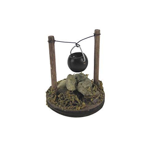 TG,LLC Treasure Gurus Mini Cooking Pot Fireplace Kettle Dollhouse Ornament Fairy Garden Supply Accessory
