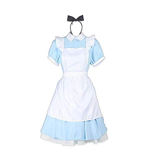 COSPARKY Anime Alice in Wonderland Alice Cosplay Halloween-kostuum Lolita Gothic Jurk voor vrouwen Volledige set
