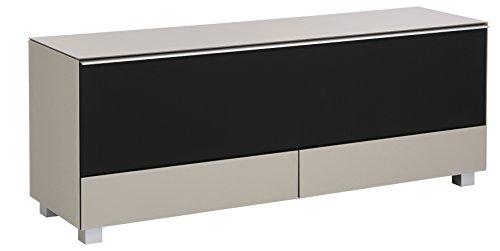 MAJA Möbel Soundboard, Glas Sand Matt-Akustikstoff Schwarz, 160,00 x 42,00 x 60,00 cm