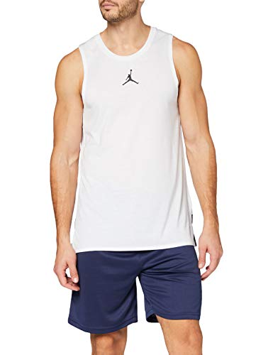 Nike MJ 23ALPHA JSY, Canottiera Sportiva Uomo, White/Black, L