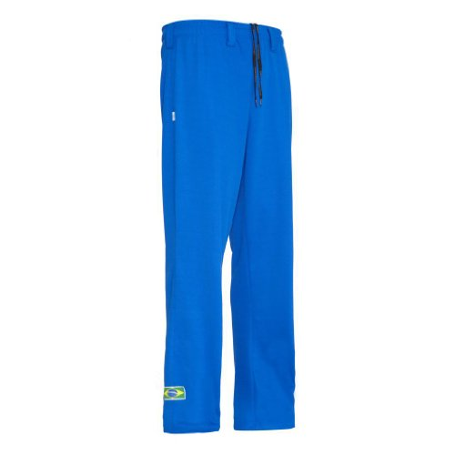 JLSPORT Authentische Brasilianische Capoeira Kampfsport Unisex Hosen (Blau) - XL