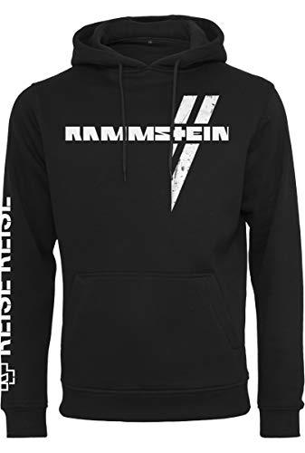 Rammstein Herren Weißes Kreuz Hoodie Kapuzenpullover, schwarz, M