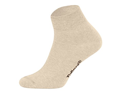 Tobeni 8 Paar Damen Herren Kurzsocken Quarter Socks Unisex Socken Kurz ohne Gummi Farbe Beige Grösse 39-42