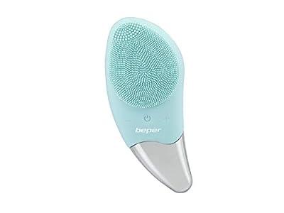 BEPER P302VIS002 Cepillo de limpieza facial, 5W, Silicona, Impermeable, Tecnología sónica, Recargable mediante cable USB, Batería para hasta 90 minutos de autonomía, Ideal para todo tipo de piel, Azul
