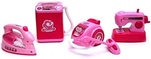 signix Battery Operated Pink Household Home Appliances Kitchen Play Sets for Girls