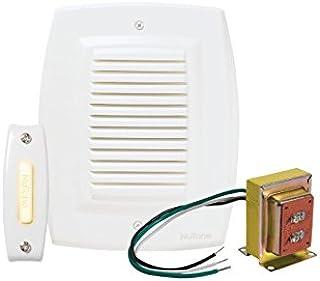 NuTone BK147LWH timbre empotrable con un botón de encendido y un transformador estándar