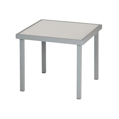 Harbour Housewares Sussex Garden Side Table - Metal Outdoor Patio Furniture - 44 x 44cm - Grey