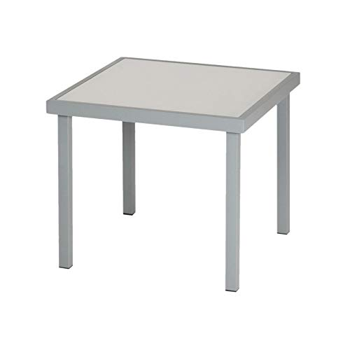 Harbour Housewares Sussex Garden Side Table - Metal Outdoor Patio Furniture - 44 x 44cm - Grey
