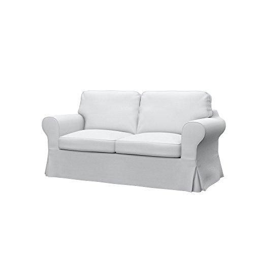 Soferia Fodera Extra Ikea EKTORP Divano a 2 posti, Tessuto Elegance White
