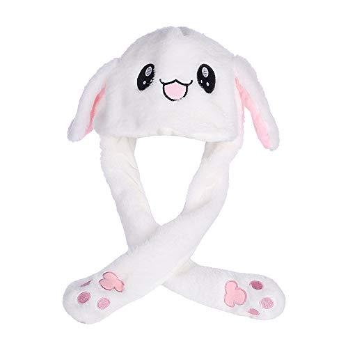 Guangmaoxin Bunny Ohren Stirnband Interessante Hase Jumping Kaninchen Ohr Hat Cute, Lustige Plüsch-Häschen-Hut-Kappe mit Den Ohren, Creative Geschenk Spielzeug Hase