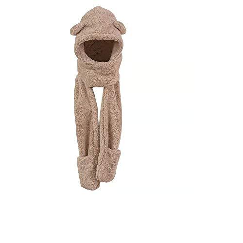 Schutzschutz Herbst und Winter niedlichen Cartoon Plüsch Schal Handschuhe Kapuze eine koreanische Version von wild warm Typ