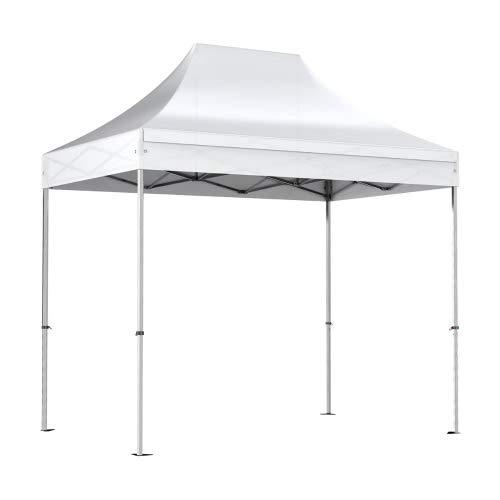 Interouge Barnum Pliant 2x3m Structure Semi-Pro Aluminium 40mm bâche Polyester PVC 300g/m² étanche traité Anti UV Sac de Transport + kit arrimage