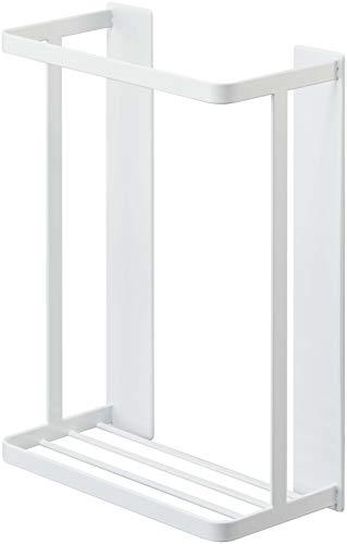 山崎実業(Yamazaki) マグネットバスルーム折り畳み風呂蓋ホルダー タワー ホワイト 約25X12.5X34cm タワー 水切れが良い シャッター式タイプも収納可 4860