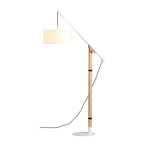 LXHLDD Lámpara de pie Lámpara De Pie Ajustable, Lámpara De Piso De Arco Clásico con Lámpara Colgante, Cuerpo De Lámpara De Madera, con Interruptor De Pie En Cable, Diseño Elegante Estilo nórdico