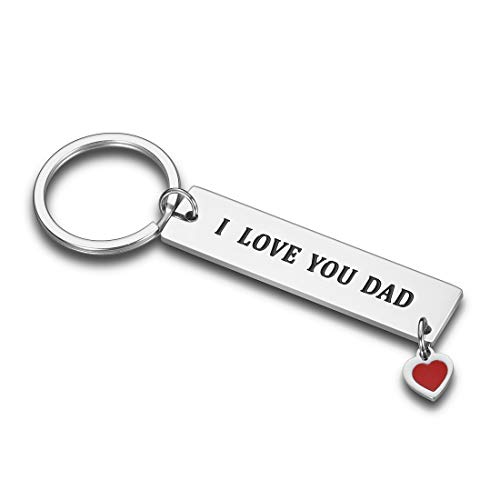 Fathers Day Gift Dad Keychain from Son Daughter Birthday Appreciate Gifts for Daddy Step dad Father in Law from Stepdaughter Stepson Papa i Love You Dad Wedding Christmas Gifts Key Ring