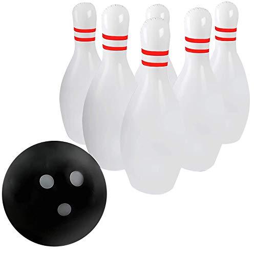 YUWEX bowling set Aufblasbar Kinder Bowling Set Bowlingspiel Pädagogische Interaktiv Spielzeug Bowling Kegel Drinnen Draußen Sportspiel