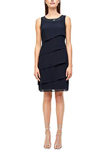 s.Oliver BLACK LABEL Damen Kleid mit Volants Dark Blue 36