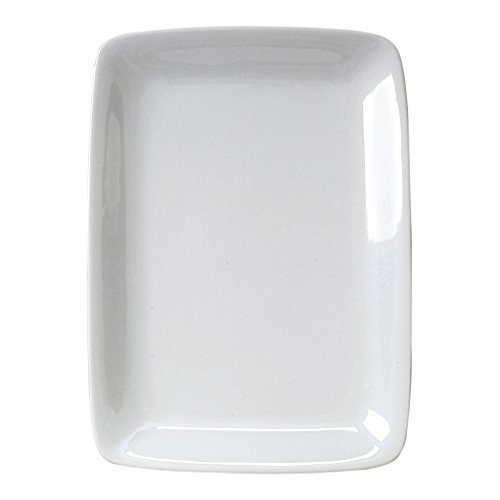 "Harold Import 401424 White Porcelain Rectangular Platter 8""x12.25"""